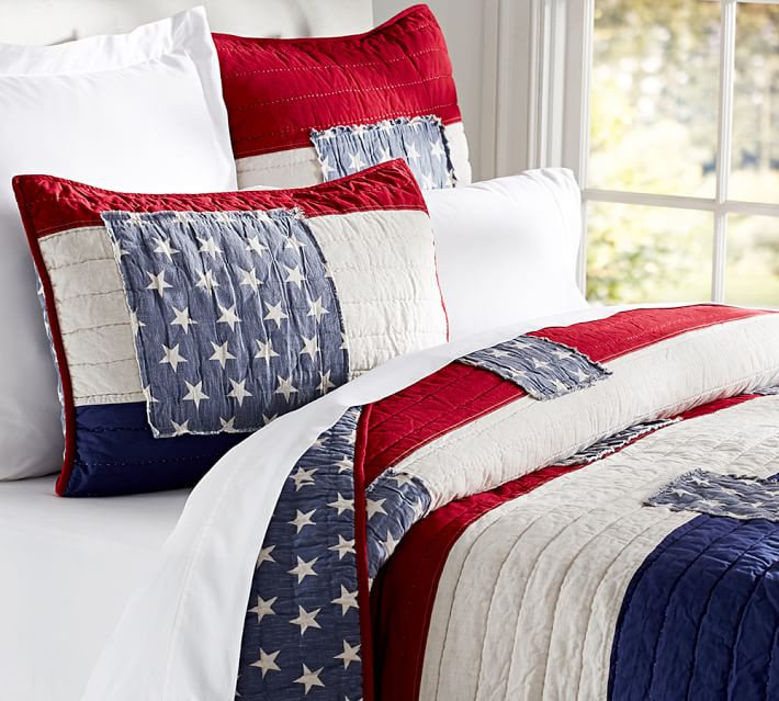 Fantastic Show Your Patriotic Pride With American Flag Bedding  YL44