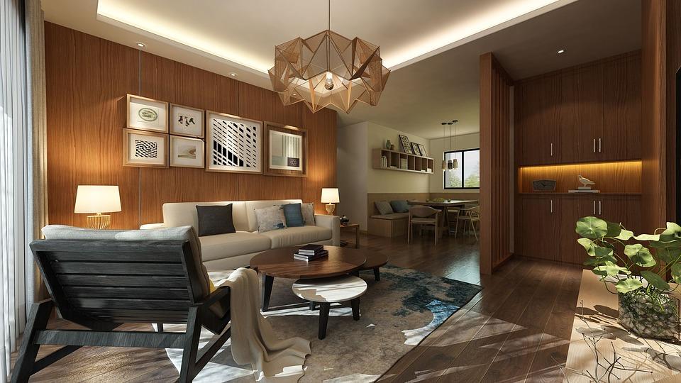 Logs Living Room Sun Light Wood