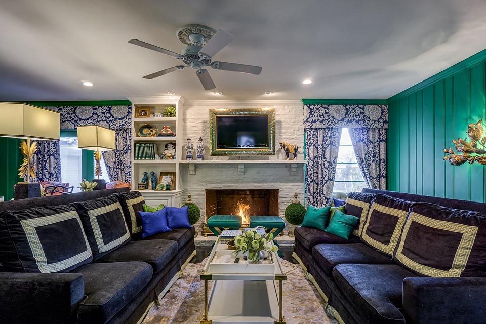 Sofa Inside House Table Furniture Seat Room