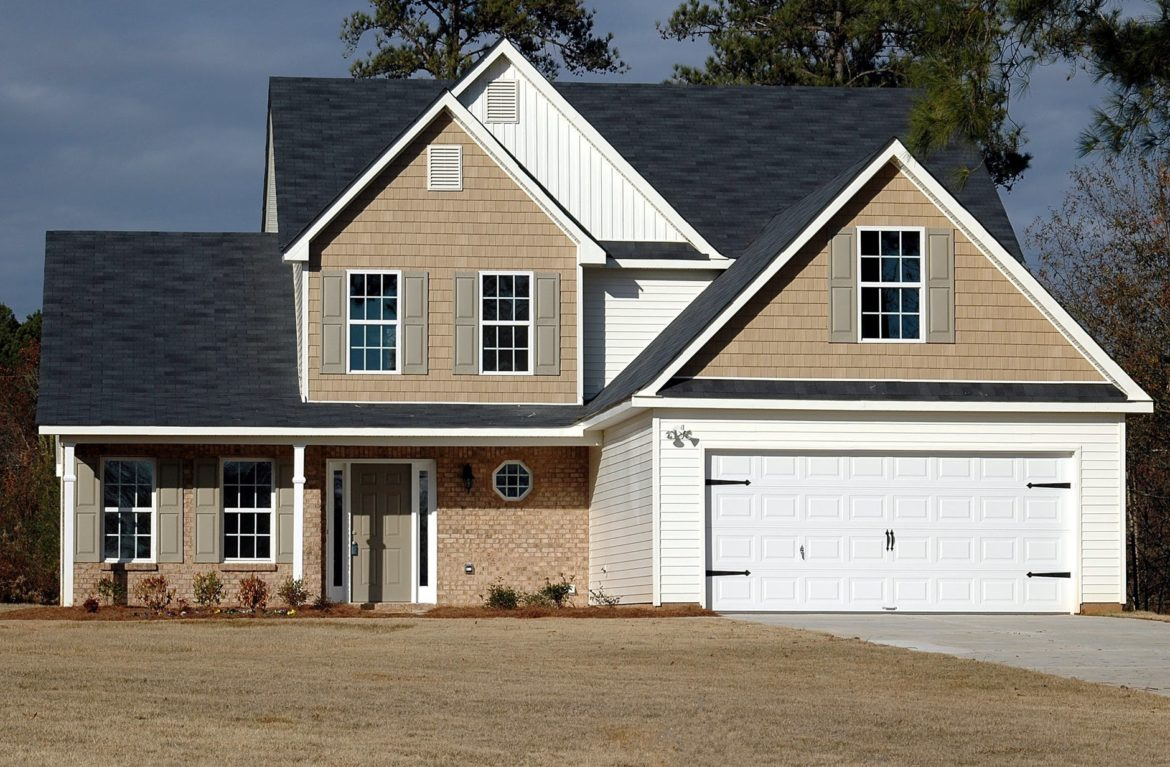house with garage door