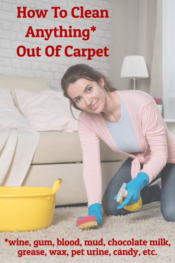 How To Clean Anything*  Out Of Carpet