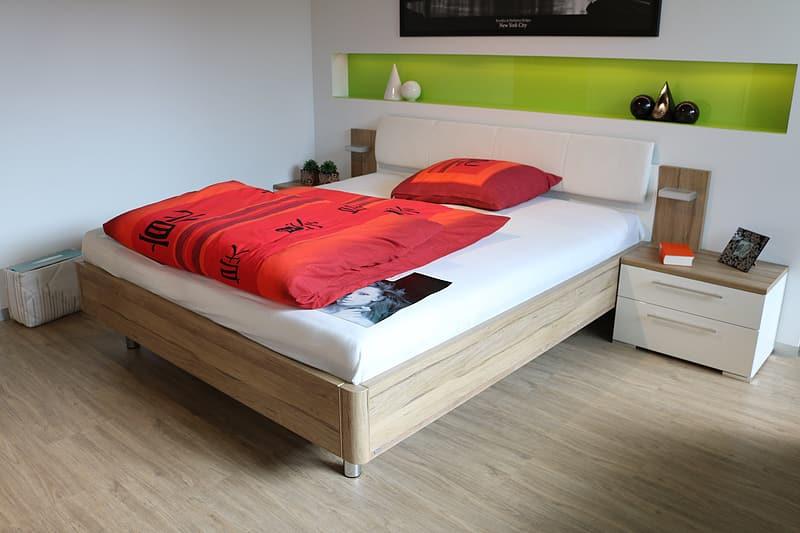 mattress on wood frame
