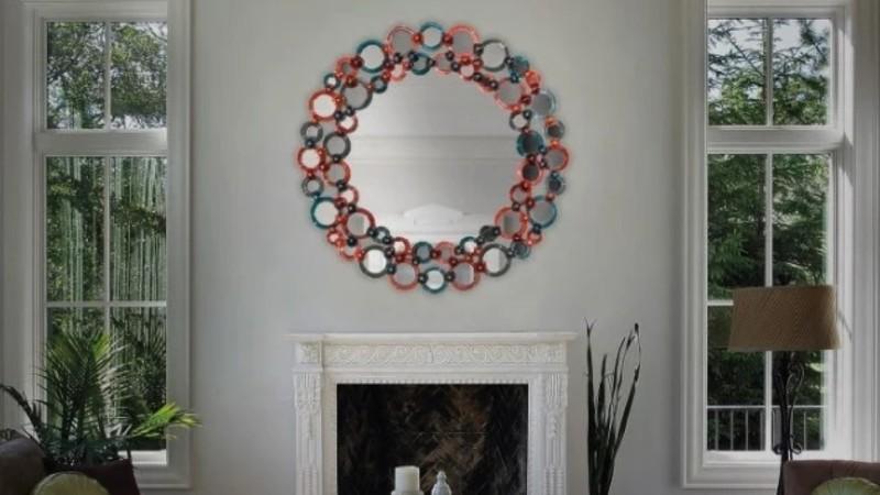 yourmurano.com blue colored round mirror
